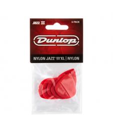 Jim Dunlop Plektrapussi 6kpl,  Jazz III XL Nylon