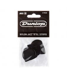 Jim Dunlop Plektrapussi 6kpl,  Jazz III XL  Stiffo