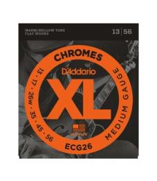 Daddario Sähkökitaran kielisarja, Chromes Flat Wound, 013-056
