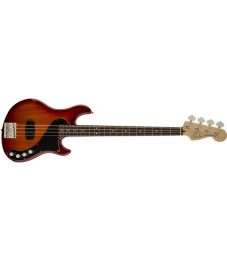 Fender® Deluxe Dimension Bass IV, Rosewood Fingerboard, Aged Cherry Burst