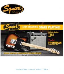 Squier by Fender®, Affinity Series Tele & Fender Frontman 15G AMP Setti, Brown Sunburst
