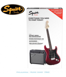 Squier by Fender®, Affinity Series Strat & Fender Frontman 15G AMP kitarapaketti, Candy Apple Red