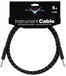 Fender Custom Shop Instrumenttikaapeli 5' / 1,5m Black Tweed