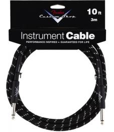 Fender Custom Shop Instrumenttikaapeli 10' / 3m Black Tweed