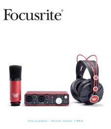 Focusrite Scarlett Studio 2i2 USB äänikortti + Kuulokkeet + Mikrofoni