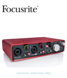 Focusrite Scarlett 2i4 USB äänikortti , 2 XLR/TRS sisäänmenoa, MIDI