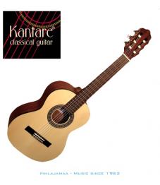 Kantare Poco S 53 1/2 kokoinen klassinen kitara, Alppikuusikansi, LensResonanceSystem®