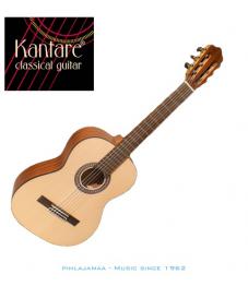 Kantare Vivace S 62 7/8 kokoinen klassinen kitara, Alppikuusikansi, LensResonanceSystem®