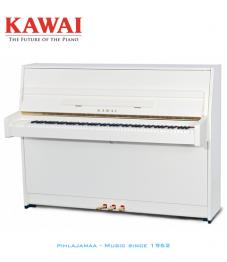 Kawai K-15 akustinen piano valkoinen kiiltävä
