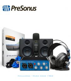 Presonus AudioBox USB96 Studio Ultimate Bundle, sis Äänikortti, studiomonitorit, mikrofoni, kuulokkeet ja tarvikkeet