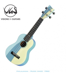 VGS Manoa Ukulele sopraano, Tropical Waves Blue