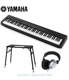 Yamaha P-45B digitaalipiano  Musta + FlatTop teline + SoundKing kuulokkeet